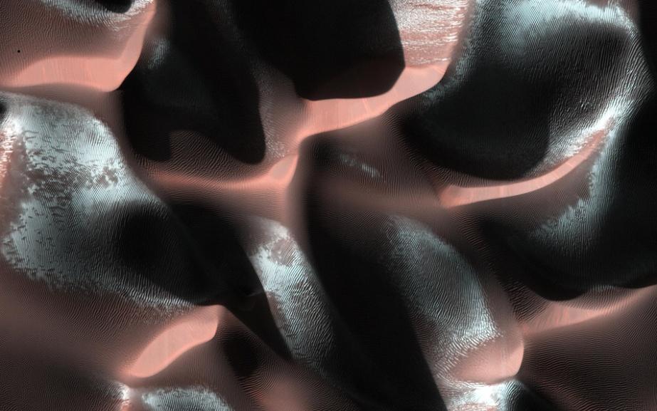Approaching winter, Mars